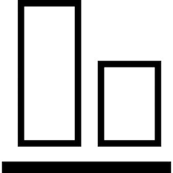 L'alignement des objets au fond