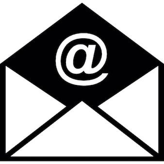 L'enveloppe électronique ouvert
