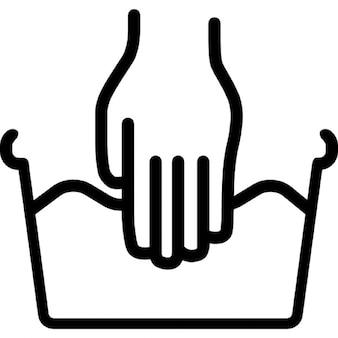 Lavage à la main