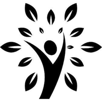 Logo de style de vie sain