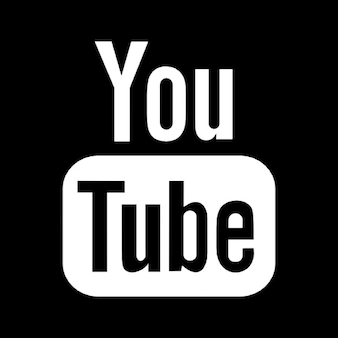 Logo youtube dans un carré
