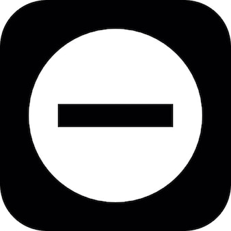 Moins signer sur un fond carré noir