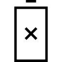 Outil de batterie avec symbole de la croix