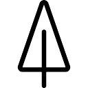 signal de trafic triangulaire sur un poteau t l charger icons gratuitement. Black Bedroom Furniture Sets. Home Design Ideas