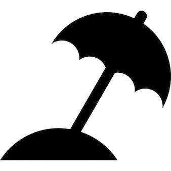 Parasol de silhouette noire