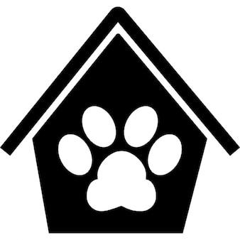 Animal symbole d 39 h tel d 39 un coeur avec une patte l - Image patte de chien gratuite ...