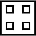Quatre carrés en un symbole indiqué carré de l'option mise en page de visualisation