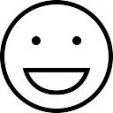 Rire face motic ne noir t l charger icons gratuitement - Smiley en noir et blanc ...