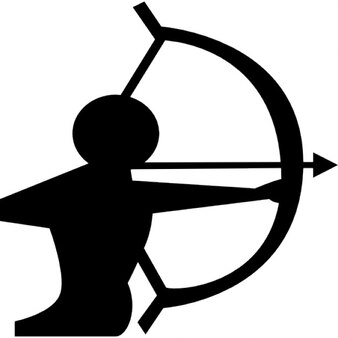 Signe sagittaire d'un archer