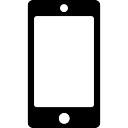 Smartphone avec écran vide