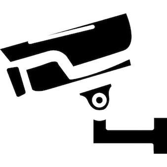 Surveillance vue de côté de l'appareil photo