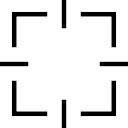 Symbole d'interface cible Carré
