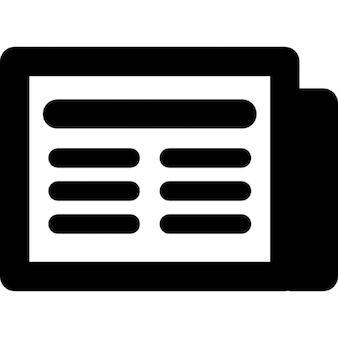 Symbole d'interface de nouvelles