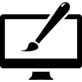 Symbole de conception de site Web