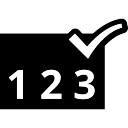 Symbole de la vérification de la séquence des numéros