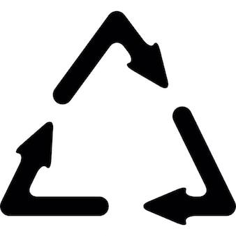 Symbole de recyclage avec trois flèches