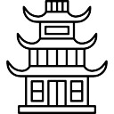how to draw a chinese pagoda