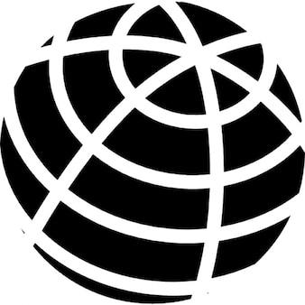 globe grille contour noir t l charger icons gratuitement. Black Bedroom Furniture Sets. Home Design Ideas