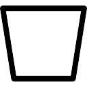Trapeze forme décrite inversé