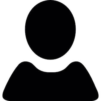 Utilisateur forme noire