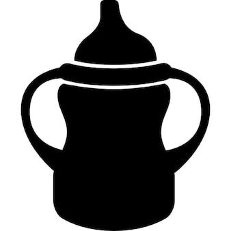 Variante de biberon avec poignée sur les deux côtés