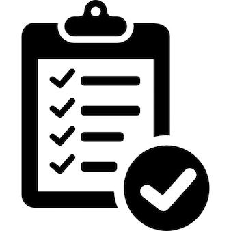 Vérification de la liste de livraison symbole du presse-papiers