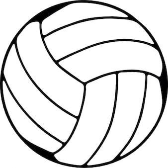 Volley-ball, symbole ios 7 de l'interface