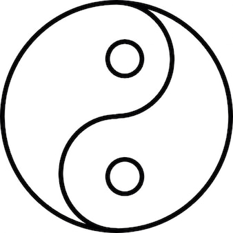 Yin yang, ios 7, symbole