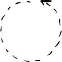 Actualización de flecha con línea discontinua