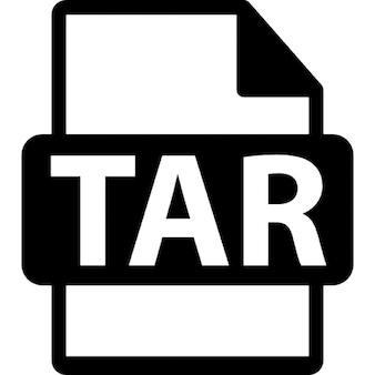 Alquitrán símbolo formato de archivo
