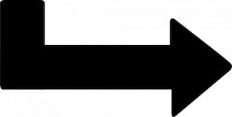 ángulo elija flecha derecha