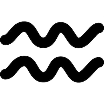 Aquarius zodiac símbolo