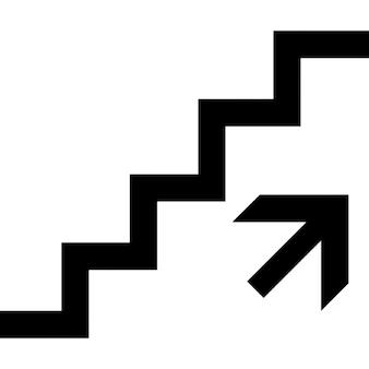 Ascendente de la señal escaleras