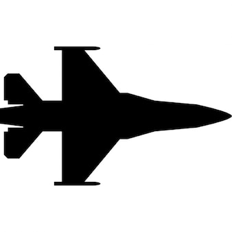 Avión de combate silueta