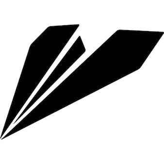 Avión de papel silueta
