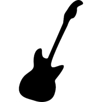 Bajo eléctrico silueta de la guitarra
