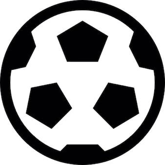 Balón de fútbol con estrellas de cinco puntas