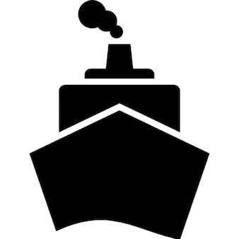 Barco desde la vista frontal