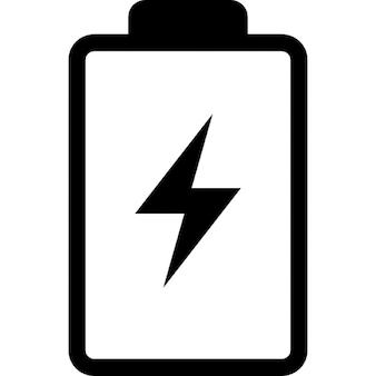 Batería con un símbolo perno