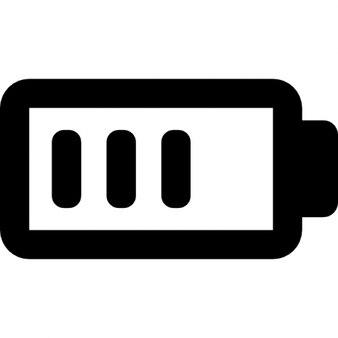Batería del teléfono símbolo interfaz de estado