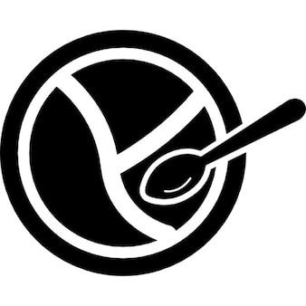 Bebé plato dividido y cuchara
