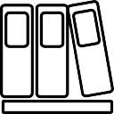 Biblioteca de tres contornos libros