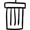 Bosquejo Papelera de reciclaje