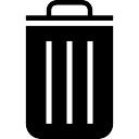Bote de basura símbolo contenedor negro