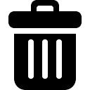 Bote de basura símbolo negro