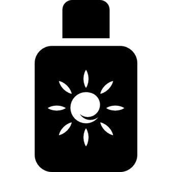 Botella de bloqueador solar