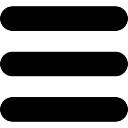 Botón Menú de tres líneas horizontales