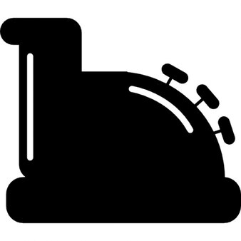 Cajero del diseño de la vendimia en vista lateral