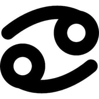 Cáncer de la muestra del zodiaco símbolo