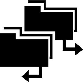 Carpetas de datos símbolo